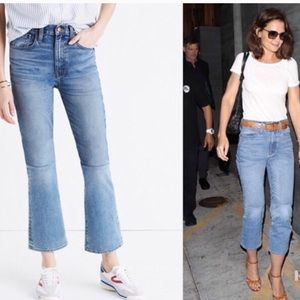 Madewell Retro Crop Bootcut Jeans 2 Tone Size 31